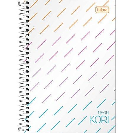 Caderno Espiral - Capa Plástica - 1/4 sem Pauta - Neon Kori - 80 Folhas - Tilibra
