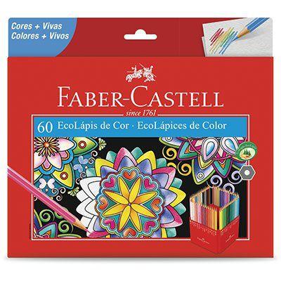 Caixa de Lápis de Cor - Ecolápis - 60 Cores - Faber Castell