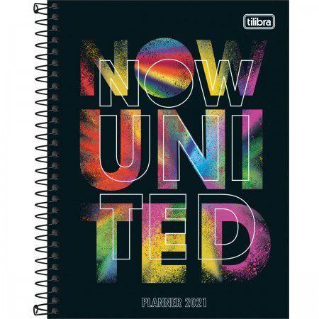 Planner Mensal e Semanal 2021 - Now United - Médio - Espiral - 80 Folhas - Tilibra