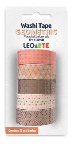 Fita Adesiva Decorada - Wash Tape - Geometric - Leonora