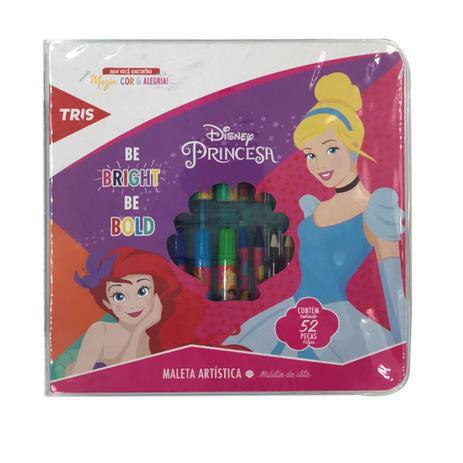 Maleta Artística - Princesas Disney - 52 Peças - Tris