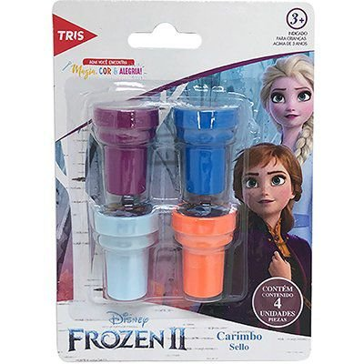 Carimbo Auto Entintado Frozen II - 4 unidades - Tris