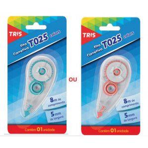 Fita Corretiva - T025 - Colors - 5mmX8m - Tris