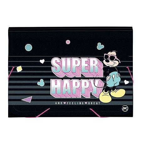 Pasta Sanfonada A4 - Mickey Mouse - 12 Divisórias - Dac