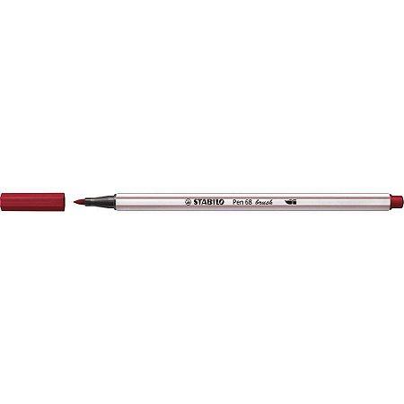 Caneta Brush Pen 68 - Bordô - 568/19 - Stabilo
