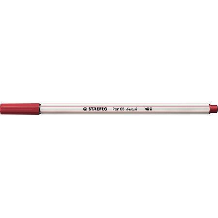 Caneta Brush Pen 68 - Vermelho - 568/50 - Stabilo