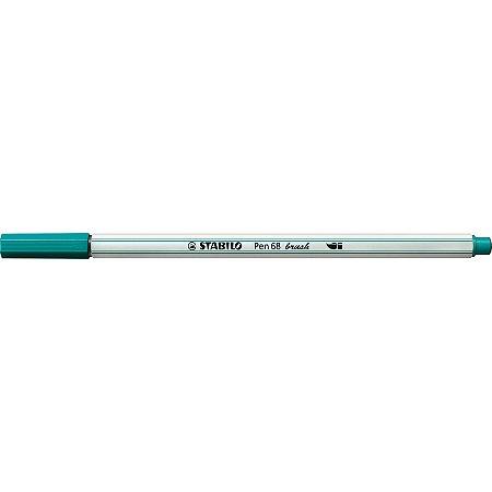 Caneta Brush Pen 68 - Azul Turquesa - 568/51 - Stabilo
