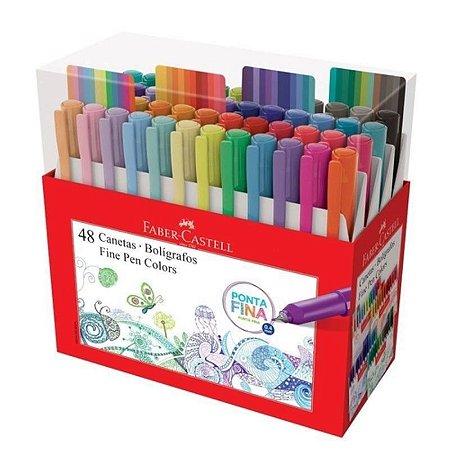 Caneta Fine Pen Colors - 0,4 mm -  48 Cores - Faber-Castell