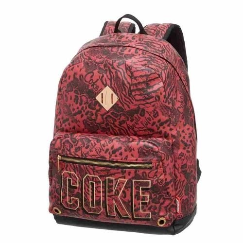 Mochila de Costas - Coca-Cola - Animal Print - Pacific