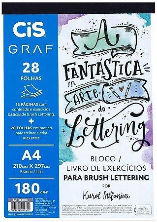 Bloco para Brush Lettering - Por Karol Stefanini - Cis