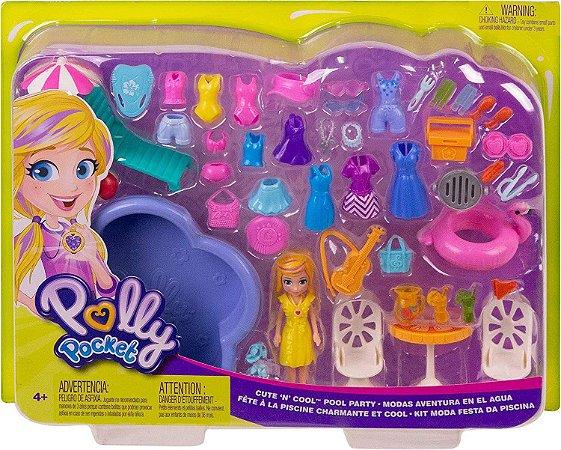 Boneca Polly Pocket - Kit Moda Festa da Piscina - Mattel