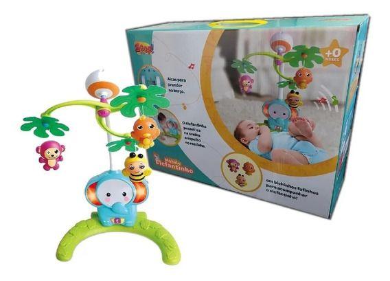 Móbile Elefantinho - Anti Mosquito - com Projetor - Zoop Toys