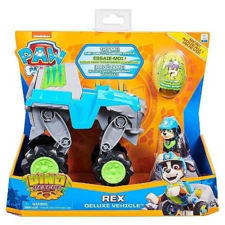 Mini Figura e Veículo - Rex Deluxe - Dino Rescue - Patrulha Canina - Sunny