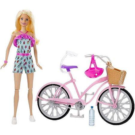 Boneca Barbie - com Bicicleta - Mattel