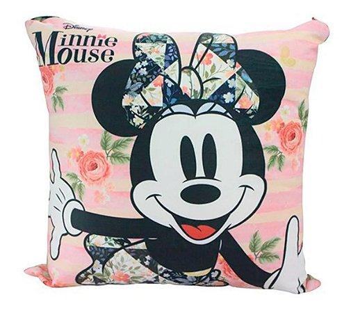 Almofada - Minnie Mouse - Fibra de Veludo - Zona Criativa