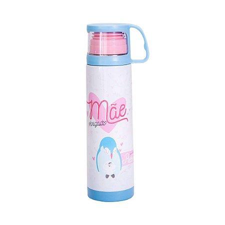 Squeeze Térmica - com Caneca - Obrigado Mãe - 475ml - Uatt?