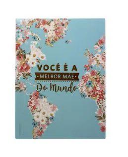 Quadro Decorativo - Metal - Melhor Mãe do Mundo - Zona Criativa