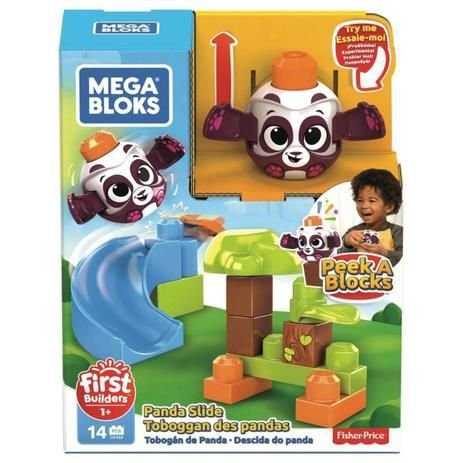 Blocos de Montar - Tobogã do Panda - Fisher Price - Mattel