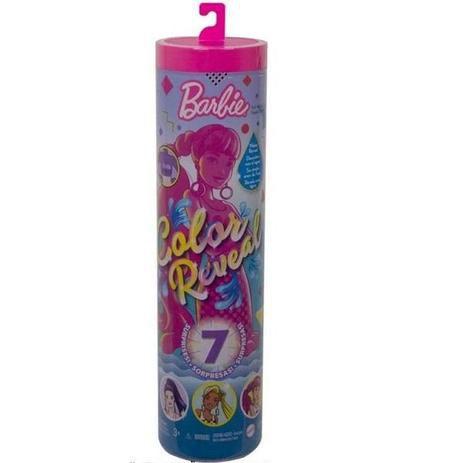 Boneca Barbie - Color Reveal - 7 Surpresas - Mattel