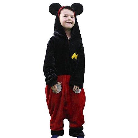 Macacão Kigurumi - Infantil - 3-4 anos - Mickey Mouse - Zona Criativa