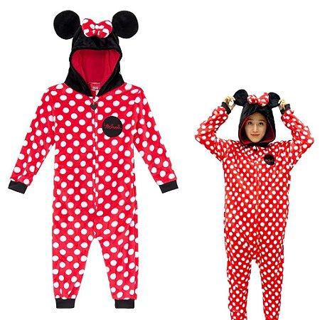 Macacão Kigurumi - Infantil - 3-4 anos - Minnie Mouse - Zona Criativa
