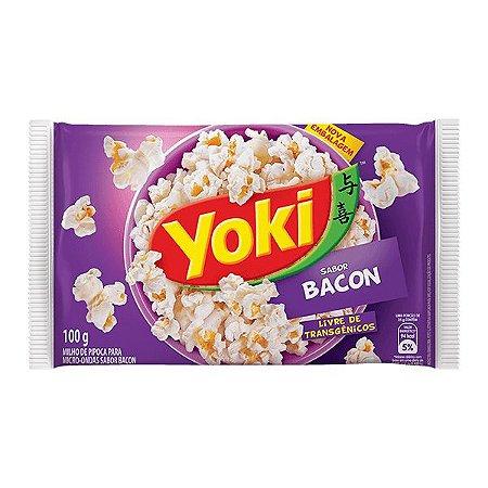 Pipoca Microondas Yoki Bacon 100g - Yoki