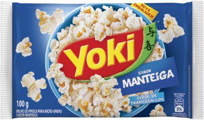 Pipoca Microondas Sabor Manteiga 100g - Yoki