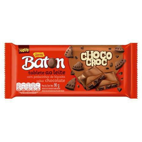 Barra Baton Tablete Choco Croc 90g - Garoto