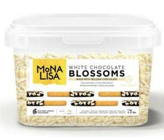 Blossoms Mona Lisa Chocolate Branco 1kg - Barry Callebaut