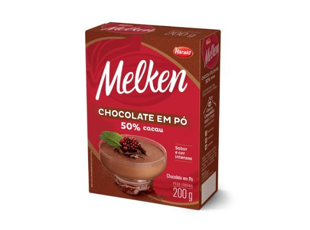 Chocolate Em Pó 50% Melken 200g - Harald