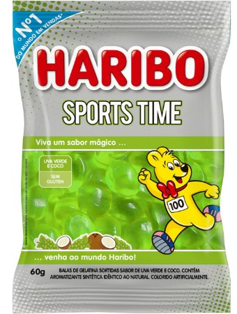 Bala Gelatina Sports Coco e Uva 60g - Haribo