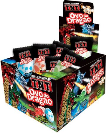 Chiclete TNT Ovo de Dragão 172g - Riclan 40Un