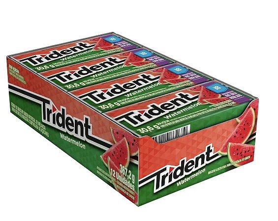 Caixa Chiclete Trident Melancia Zero Açúcar (12x 30,6g) 367,2g