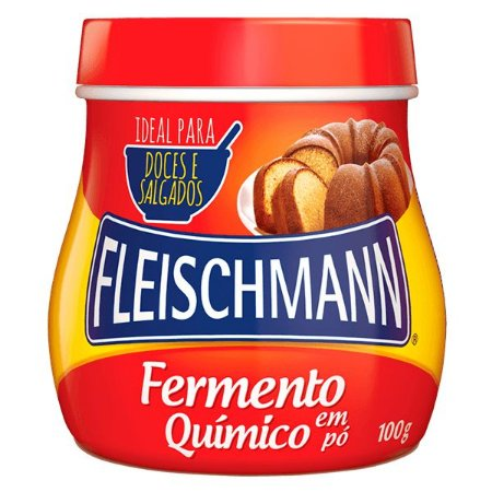 Fermento químico em pó 100g - Fleischmann