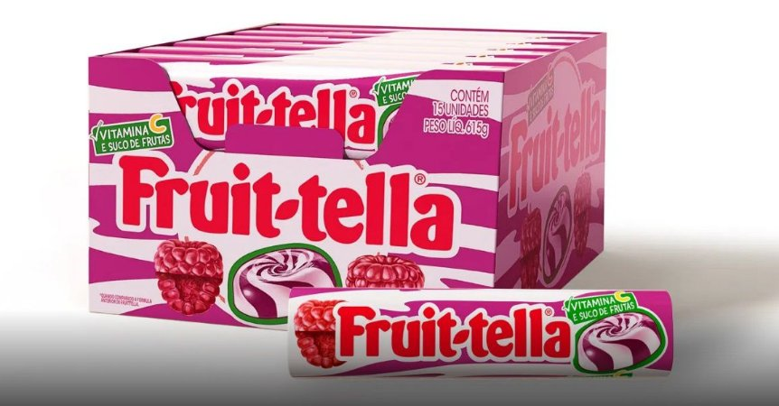 Bala Fruittella Framboesa (15 unidades) 615g - Perfetti