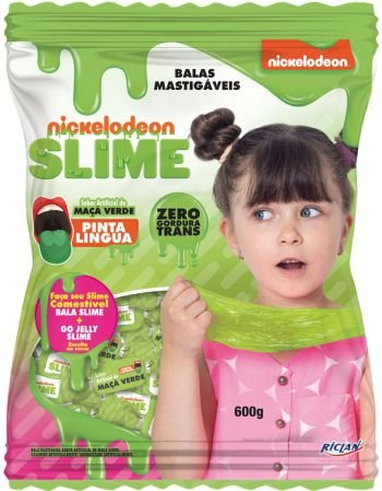 Bala Mastigavel Slime Maçã Verde 600g - Riclan