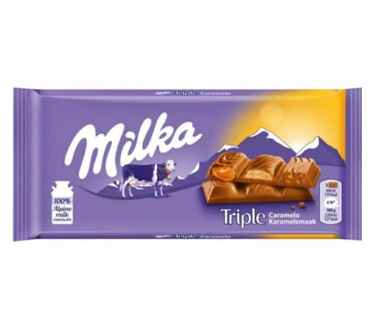 Milka Triple Caramel 90g