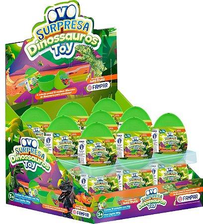 Ovo Supresa Dinossauro Toy com 18 unidades de 10g - Fampar