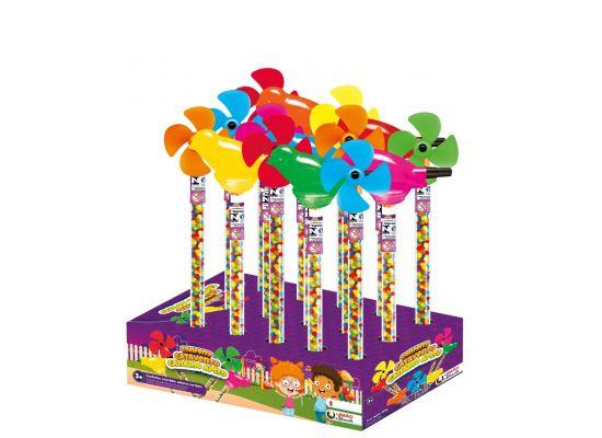 Brinquedo com Confeito Canário Apito Catavento com 15 unidades de 18g - União Alimentos