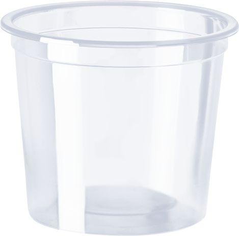 Pote transparente liso 200ml ideal para sorvetes (25 unidades)  - Zanata