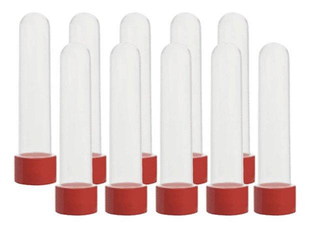 Lembrancinhas Tubo de ensaio tubete grande vermelho com 10 unidades  - Mirandinha