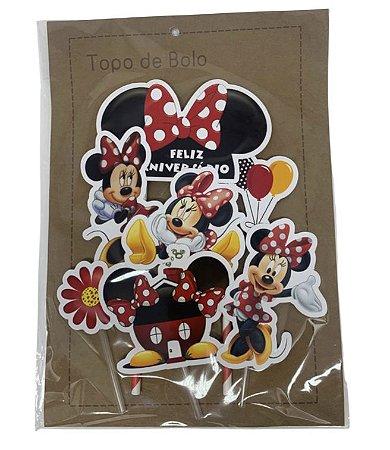 Topper Topo de Bolo Personalizado da Minnie