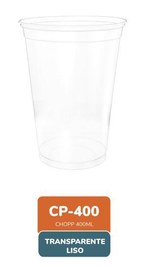 Copo 400 ml Transparente Liso com 50 unidades -  Minaplast