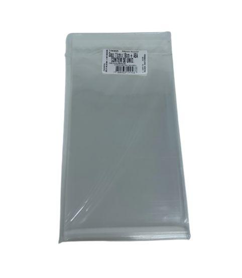 Saco adesivado incolor 11x18cm com Aba - Packpel