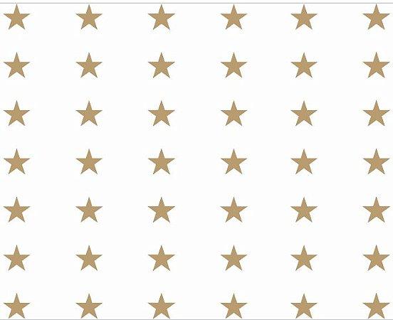 Saco Estrelinha Ouro 10x14cm com 50 unidades - Packpel