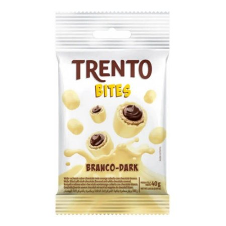 Chocolate Trento Bites Branco Dark 40g - Peccin