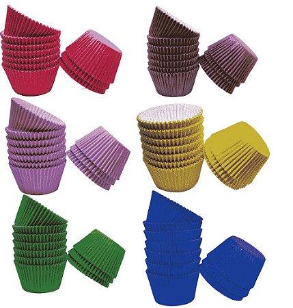 Forma de cupcake forneáveis  N°0A (40x49mm) com 100 unidades - Reiki