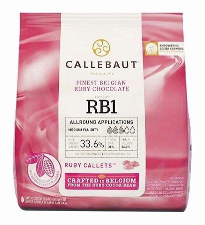 Chocolate Ruby Callets 33.1% Gotas 400g - Callebaut