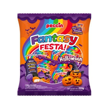 Bala Fantasy Festa Halloween com 10 pacotes de 23,5g (235g) -  Peccin