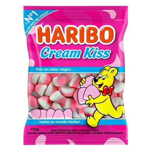 Bala Gelatina Cream Kiss 250g - Haribo